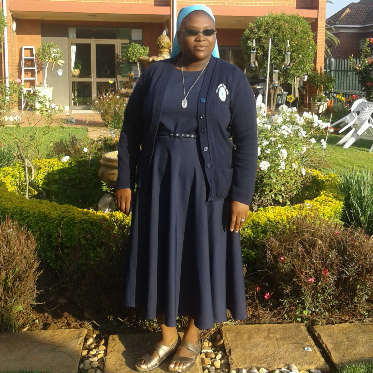Sister Itayi nun outside in sun